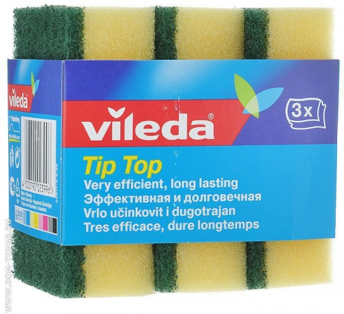Губки для посуды Vileda «Tip Top», 3 шт.
