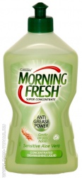 Средство для мытья посуды Morning fresh «Sensitive. Aloe vera», концентрат, 450 мл.