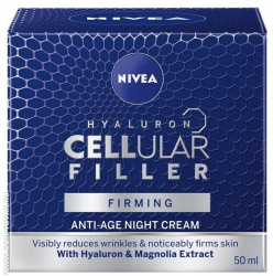 Крем для лица Nivea «Hyaluron Cellular Filler» ночной, 50 мл.